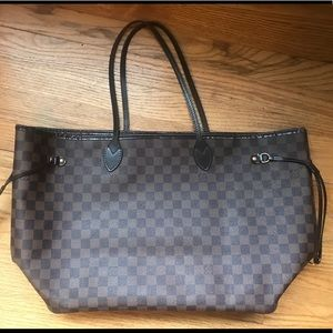 Authentic Louis Vuitton Neverfull GM Damier ebene